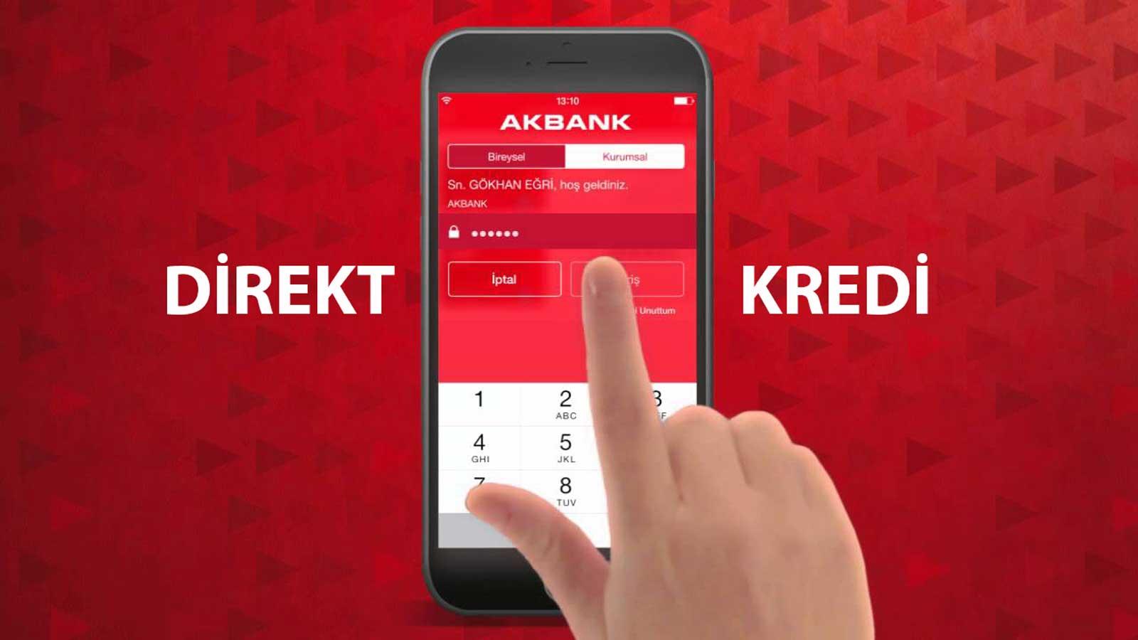 Nakit İhtiyacınıza 7/24 En Hızlı Çözüm Akbank Direkt Kredi