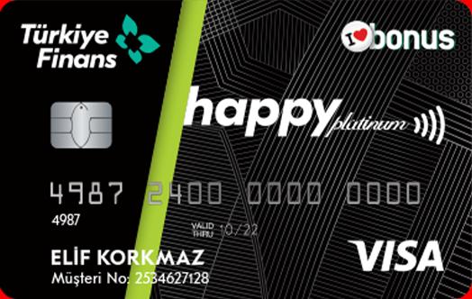 Türkiye Finans happy kredi kartına başvur 25 TL bonus kazan!