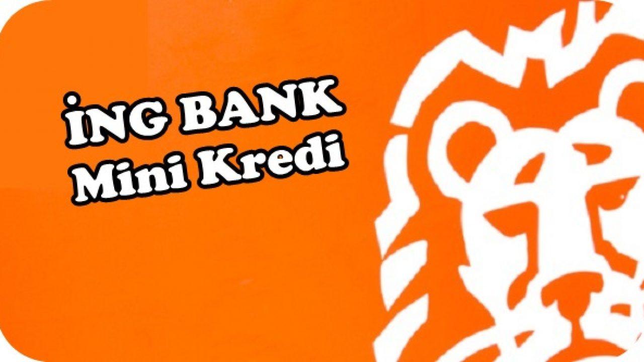 ING Bank Gelir Belgesiz 5000 TL Mini Kredi